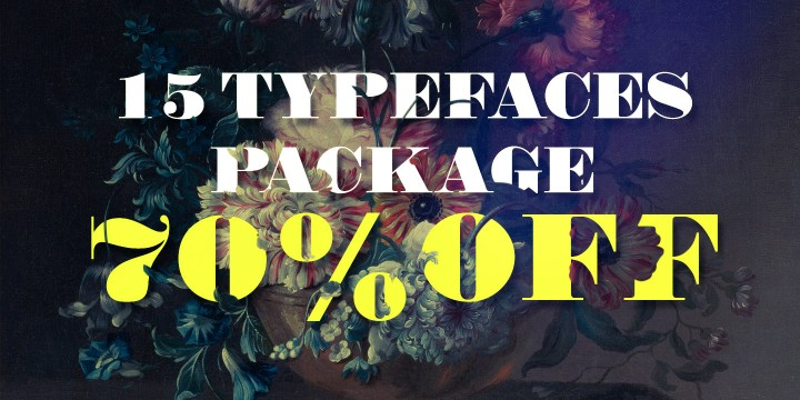 15 Typefaces Package DISCOUNT 70% OFF